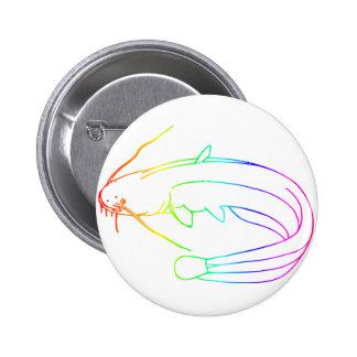Rainbow Catfish 2 6 Cm Round Badge