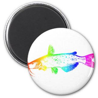 Rainbow Catfish 6 Cm Round Magnet