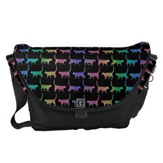 Rainbow Cats Animal Pattern Messenger Bag