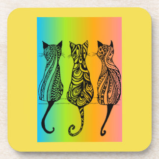 Rainbow Cats Coasters