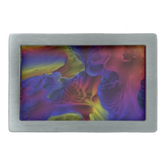 Rainbow Caves Rectangular Belt Buckles