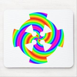 Rainbow Celtic Cross Mouse Pad