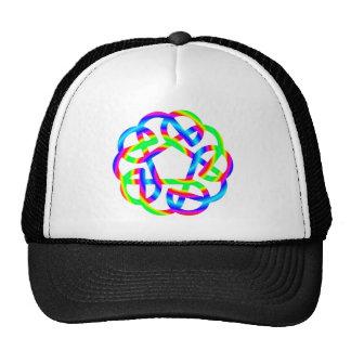 Rainbow Celtic Knot Cap