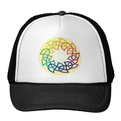 Rainbow Celtic Knot Hat