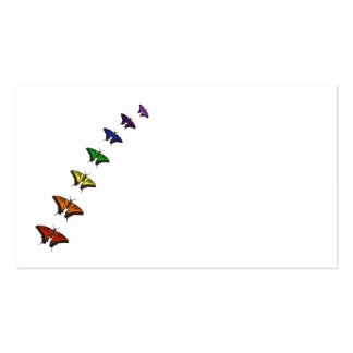 Rainbow chakra butterflies pack of standard business cards