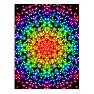 Rainbow Chakra Universe Postcard