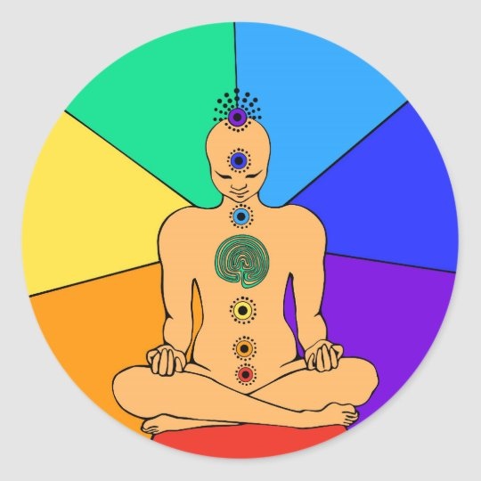Rainbow Chakras Sticker