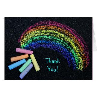 Rainbow Chalk Greeting Card
