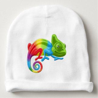Rainbow Chameleon Baby Beanie