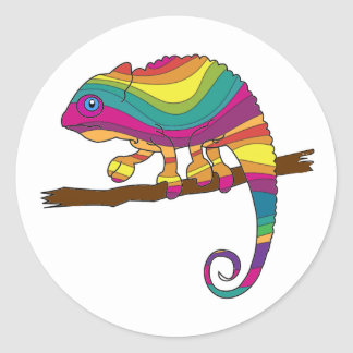 Rainbow Chameleon Stickers