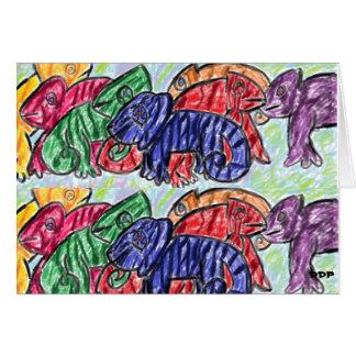 Rainbow Chameleons Card