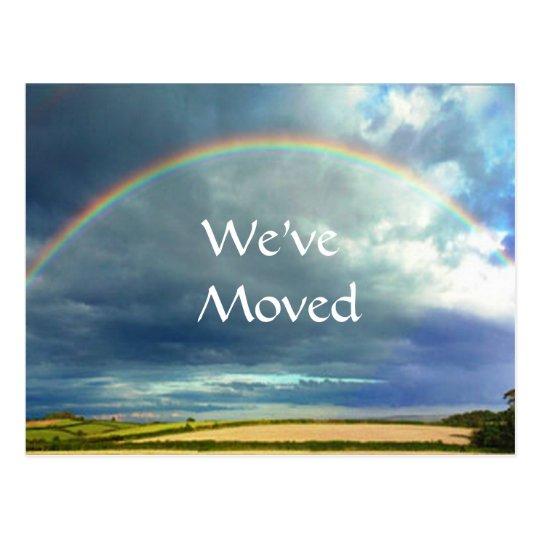 Rainbow Change of address postcard