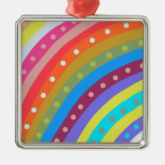 Rainbow Chaser Silver-Colored Square Decoration
