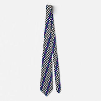 Rainbow Checkerboard Artsy Retro CricketDiane Tie