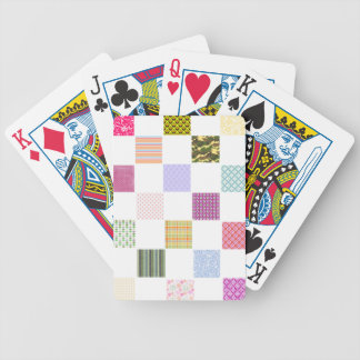 Rainbow Checkerboard pattern Bicycle Playing Cards