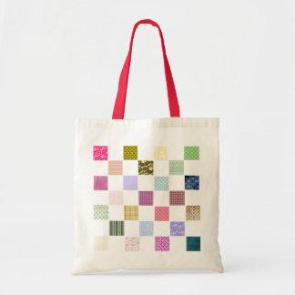 Rainbow Checkerboard pattern Tote Bag