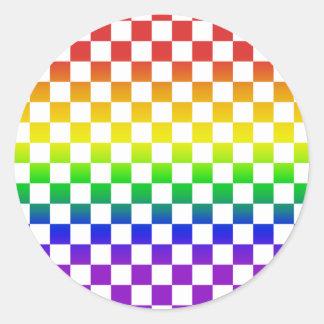 Rainbow Checkers stickers 01