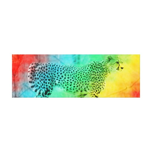 Rainbow Cheetah Canvas Prints