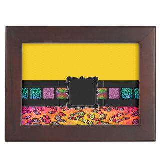 Rainbow Cheetah Monogram Memory Boxes