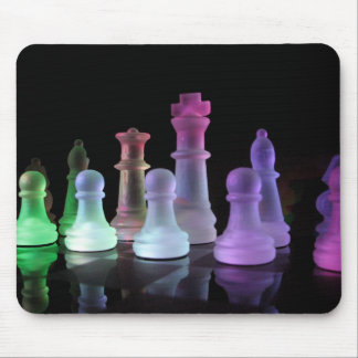 Rainbow Chess Set Mouse Pad