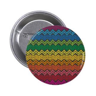 Rainbow Chevron 6 Cm Round Badge