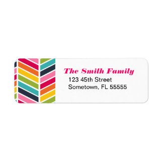 Rainbow Chevron Address Labels