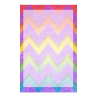 Rainbow Chevron by Shirley Taylor Personalized Stationery