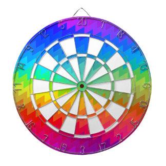Rainbow chevron dartboard