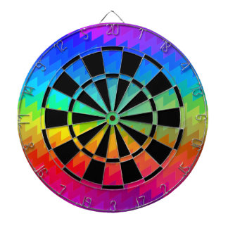 Rainbow chevron dartboard