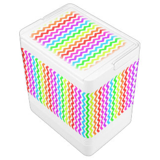 Rainbow chevron igloo cool box