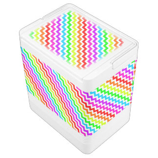 Rainbow chevron igloo cooler