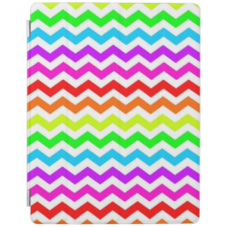 Rainbow chevron iPad cover