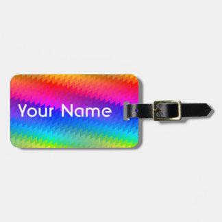 Rainbow chevron luggage tag
