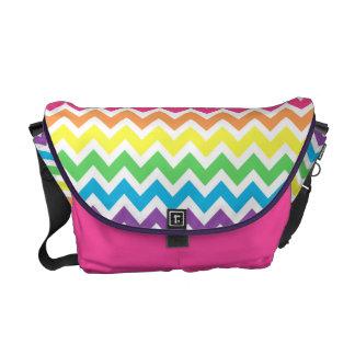 Rainbow Chevron Messenger Bags
