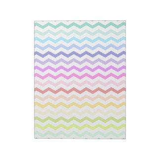 Rainbow chevron notepad