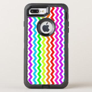 Rainbow chevron OtterBox defender iPhone 8 plus/7 plus case