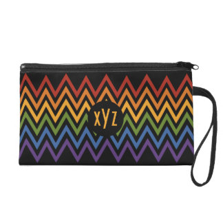 Rainbow Chevron Pattern custom accessory bags