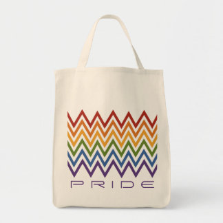 Rainbow Chevron Pattern custom bags