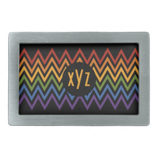 Rainbow Chevron Pattern custom belt buckle