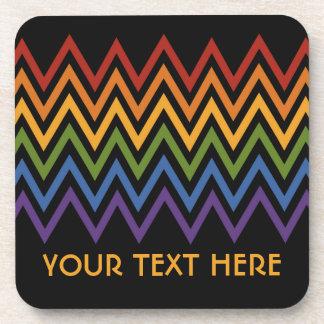 Rainbow Chevron Pattern custom coasters