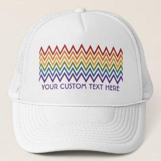 Rainbow Chevron Pattern custom hat