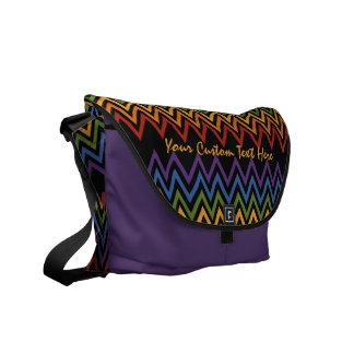 Rainbow Chevron Pattern custom messenger bag