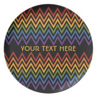 Rainbow Chevron Pattern custom plate