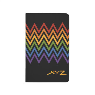 Rainbow Chevron Pattern custom pocket journal