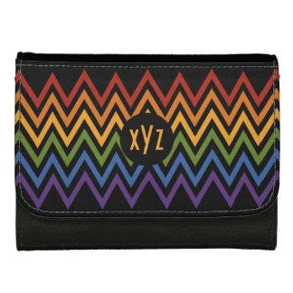 Rainbow Chevron Pattern custom wallets