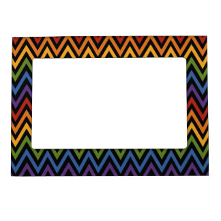 Rainbow Chevron Pattern picture frame