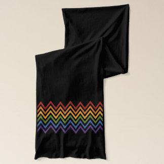 Rainbow Chevron Pattern scarfs Scarf