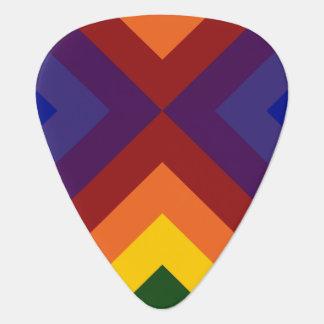 Rainbow Chevrons Guitar Pick