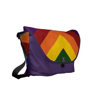 Rainbow Chevrons Messenger Bags