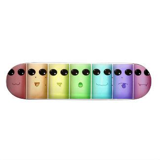 Rainbow Chibi Faces Skate Board Deck